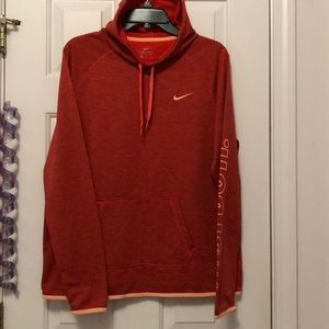 Nike orange long sleeve sweater